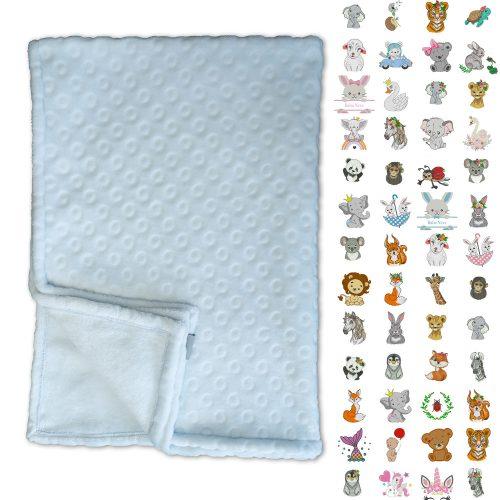 Kék Maratott karikás takaró