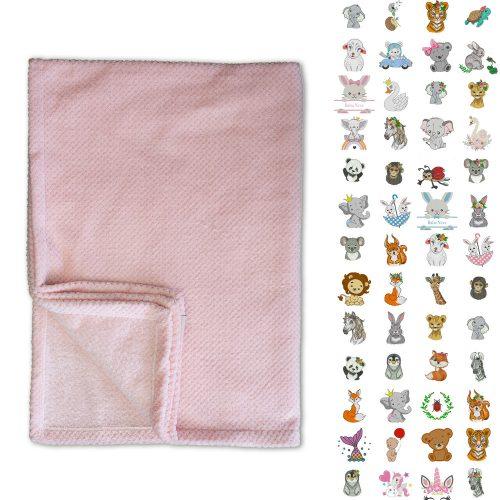 Rózsaszín Micropopcorn takaró